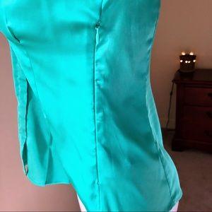 Express Tops - Statin Teal Express Short-sleeve Button Up Top